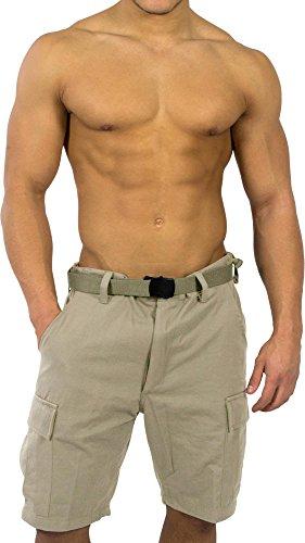 BDU Bermuda Short für Herren Farbe Khaki Größe M (Khaki Bermuda)