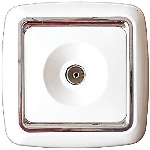 CEXPRESS - Caja para empotrar con punto de antena de televisión