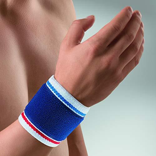 bort 1410 medium blau ActiveColor Handgelenkbandage für rechts und links gleich, medium, blau