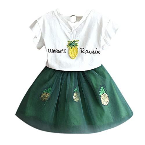 YUAN Baby Mädchen Kleidung Set 11 Stück Tops+ Rock Tütü Pettiskirt Geburtstag Geschenk Outfits Verkleidung
