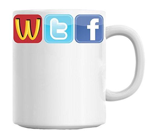 Shirt sidez Logo Fun WTF McDonalds Twitter Facecbook Tasse