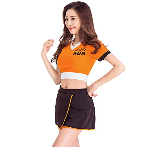 CLOTHES Cheerleaderuniform des Damenbasketballfußball-Babys, Bar ds Kostüme, Dj atmosphärischen Sänger Lead Tänzerin Kleidung, Für Halloween/Cosplay/Tanzwettbewerb