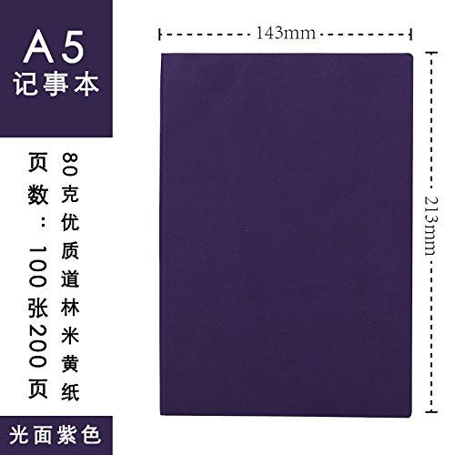 XIAOXINYUAN Notebook Stationery Quaderno A5 Business Hand Book Diario Ispessita Office Notepad Forniture Per Ufficio. Violetta