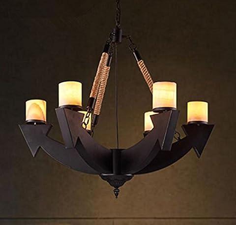 DMMSS Industrie-Wohnzimmer Restaurant Thema Bar Kreative Lampen Retro Büro Eisen Kronleuchter , 78