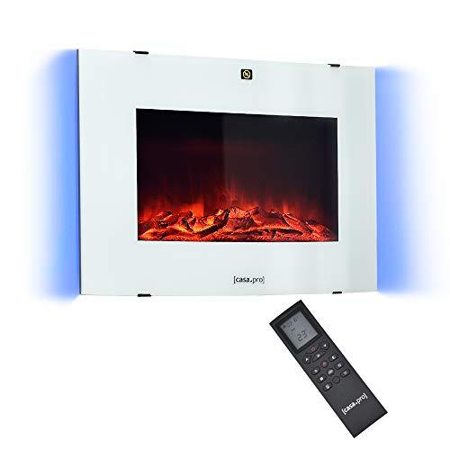 [casa.pro] Chimenea eléctrica 65 x 13,5 x 46 cm Animación de Fuego...