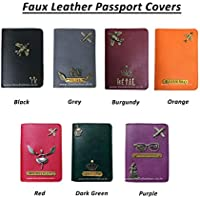 I Love Fashion Faux Leather Passport Covers for Men and Women