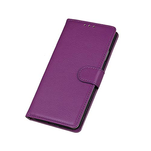 Foto HAOYE Cover per ZTE-Nubia Red Magic 3 Cover, [Flip Stand/Card Slot] Flip Case Custodia in Pelle PU Premium Antiurto con Supporto/Magnetico/Portafoglio, Porpora