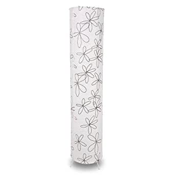 White paper floor lamp with black flowers amazoncouk for Paper floor lamp amazon