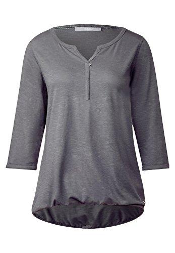 CECIL Damen Basic 3/4-Arm Shirt Amelie dark (Hats Silver Top)