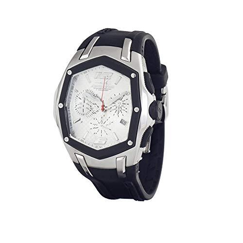 Chronotech orologio cronografo quarzo uomo con cinturino in gomma ct7931m-09