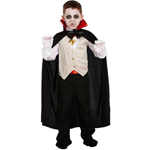 Vampir Klassische Kostüm Dracula Umhang Kinder Kinder Jungen Halloween Kostüm - 4-6 Jahre (Süße Vampir Halloween Kostüme)