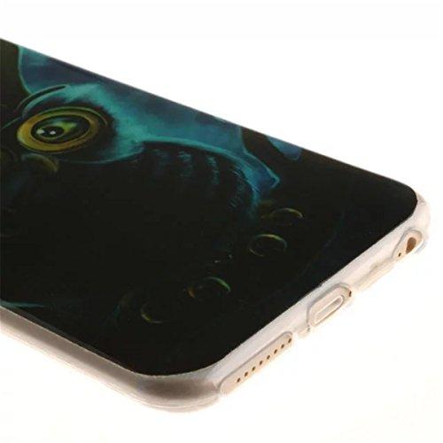 iPhone 6S Plus Hülle Case,iPhone 6 Plus Hülle Case,Gift_Source [Slim Thin] [Drop Protection] Premium Flexible Soft TPU Hülle Case Fashion Silicone Slim Hülle Case Cover für Apple iPhone 6s Plus / 6 Pl E01-12-Owl