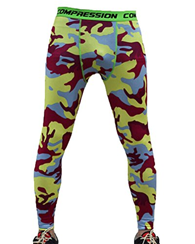 Leggings De Compresión Camuflaje Para Hombres Mallas Térmicas Running Deportes Pantalones XL