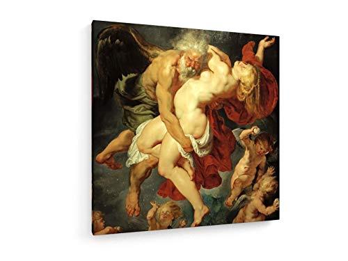 Peter Paul Rubens - Boreas entführt Oreithyia - 1615-80x80 cm - Textil-Leinwandbild auf Keilrahmen - Wand-Bild - Kunst, Gemälde, Foto, Bild auf Leinwand - Alte Meister/Museum