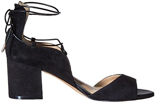 Suede Black Sandali Colore Taupe Donna Tacco Camoscio npOSq