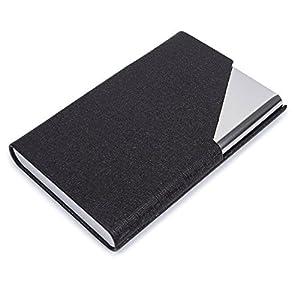 Visitenkarten Etuis Leder, UBaymax Metall edelstahl Visitenkarten-Etui Visitenkartenhalter mit Magnetverschluss…