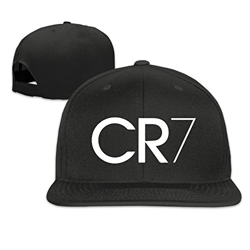 Facsea Runy Custom CR7 Logo Adjustable Baseball Hat & Cap Black