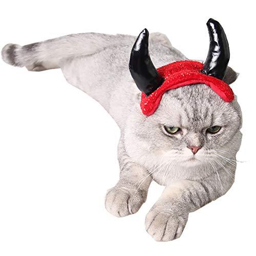 ap für Hund Katze Haustier-Partei-Kleid-Zubehör Einstellbare Horn Hat Large Size ()