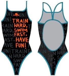 Turbo Sport Bañador trainhard fino Correa para nadadores interior de waterpolo - traje de triatlón de tirantes spaghetti