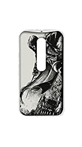 Ghost Rider Designer Mobile Case/Cover For Moto X Play 2D Transparent