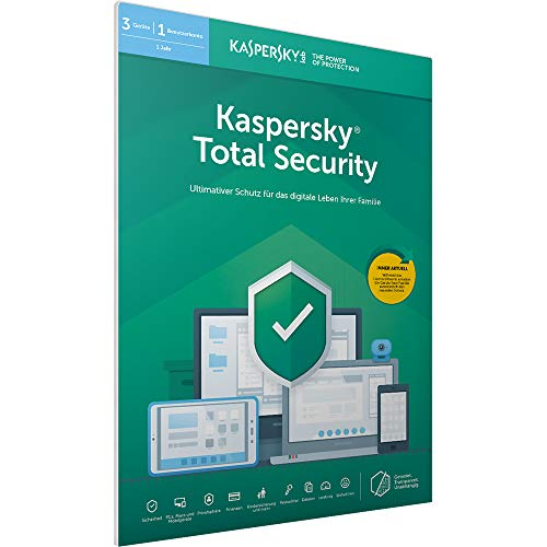 Kaspersky Total Security 2019 Standard | 3 Geräte | 1 Jahr | Windows/Mac/Android | FFP | Download (Computer-software-antivirus)