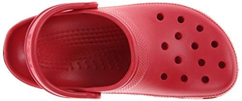 crocs Unisex-Erwachsene Classic Clogs Rot (Pepper)
