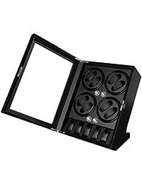 jianbo Watch Winder para relojes relojes automáticos Reloj Automático box automático con Rotor Expositor Rotador para (8+5) , black