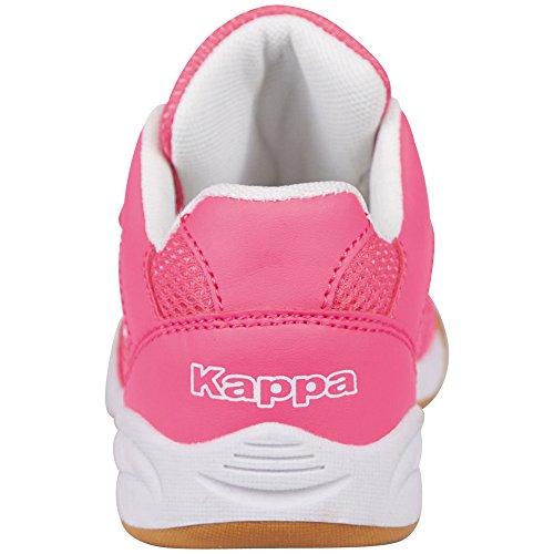 Kappa Kickoff Teens, Scarpe da Ginnastica Basse Bambina Rosa (Pink/white)