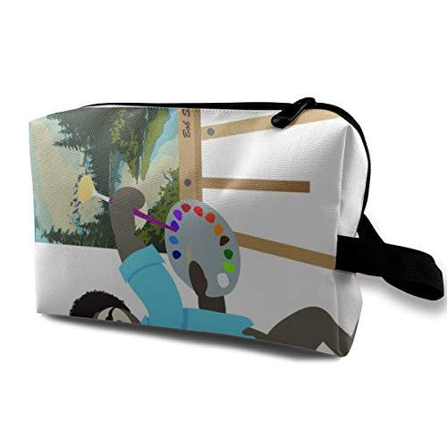 Kosmetiktasche für Geldbörse, Big City Sloths_78, Oxford Stoff Bunte Tasche Mini Travel
