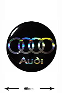 Autocollant Sticker - Audi - BIG - 3D Sticker - 1 Pieces - black - black - LOGO - Decal - Car - Motorbike - Motocross - Bike - BMX - MTB - Scooter- Racing - Patch