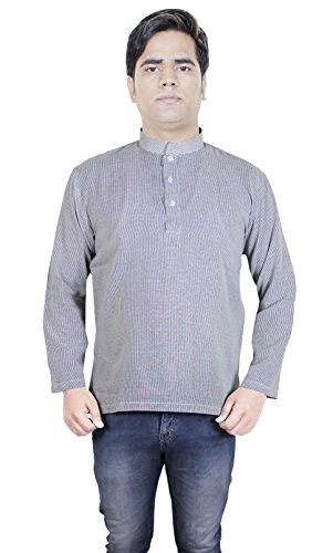 Camicia di cotone indiano - lunghe degli uomini del manicotto