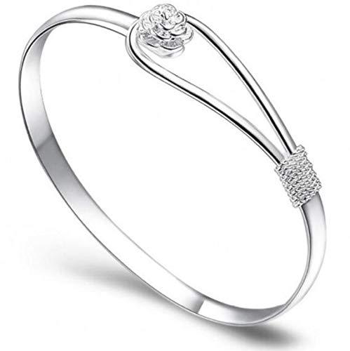 Lady Silber Armband Armband Armbänder Frauen Exquisite Schmuck Zubehör Armband Zubehör