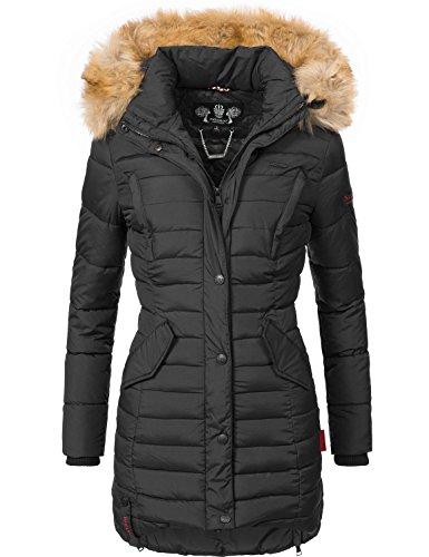 Navahoo Damen Winter Mantel Steppmantel Täubchen (vegan hergestellt) 8 Farben + Camouflage XS-XXL