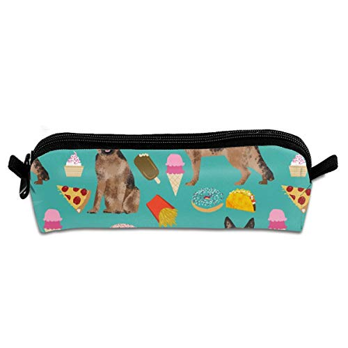 Sexy Friesen (German Shepherd Junk Food Bright Fries Food Pizza Tacos Pencil Pouch Bag Stationery Pen Case Makeup Box with Zipper Closure 21 X 5.5 X 5 cm)
