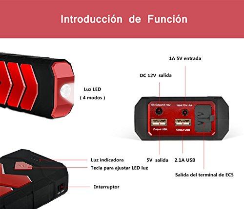 Arrancador 16800 mAh Jump Starter para Baterías de 12V Batería Externa Portátil con Linterna del LED,Arrancador de Coche…