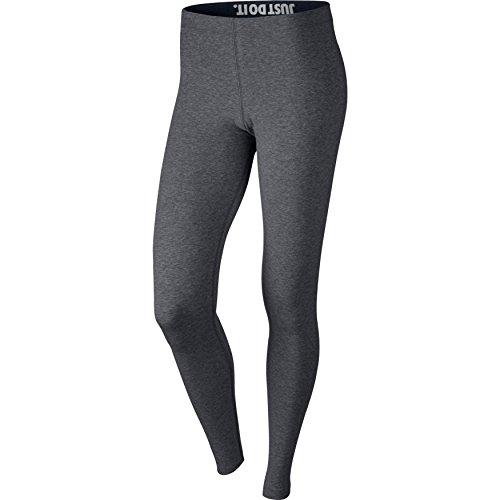 Nike Damen Leg-A-See Leggings, Carbon Heather/Black, L (See Heather)