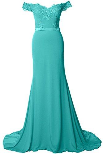 MACloth - Robe - Moulante - Sans Manche - Femme Turquoise