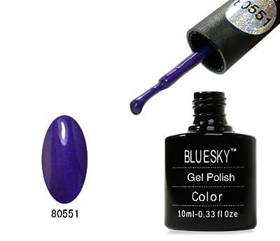 Bluesky UV LED Gel Soak Off Nail Polish, Grape Gum