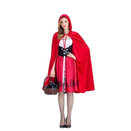 Fenical Mode Damen Halloween Rotkäppchen Bauer Halloween Kostüm - Größe XL
