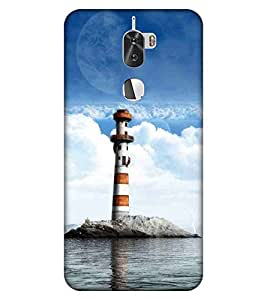 For Coolpad Cool1 lighthouse, a landscape with a red lighthouse and bird, lightouse Designer Printed High Quality Smooth Matte Protective Mobile Case Back Pouch Cover by APEX