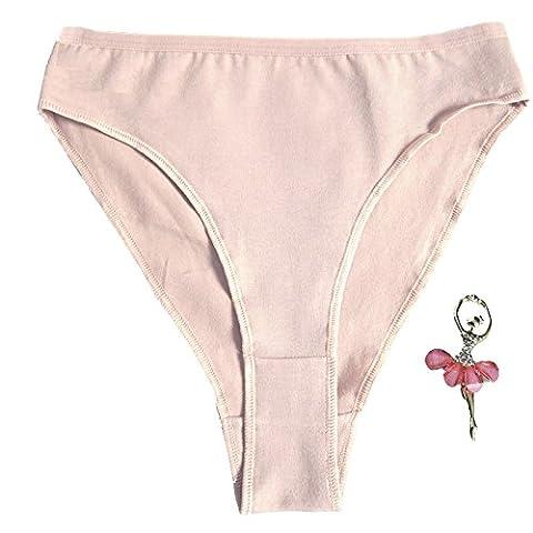 Fille Slips turnanzug Ballet Sous-vêtement short Slip Girl Ballet Dance Beige Low Waist Panty for Women Slip brésilien Dancing Panties 8-9 ans High Cut