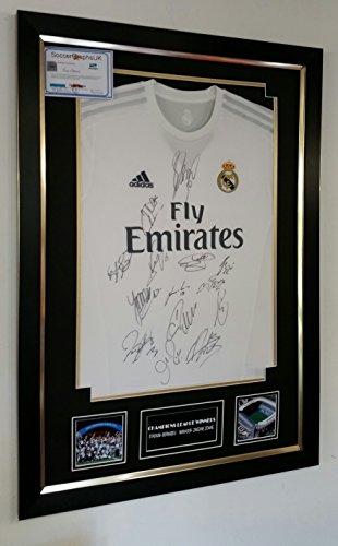 Camiseta fútbol firmada y enmarcada - Real Madrid - Firmada por todos
