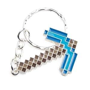 Minecraft - Porte clés Pioche Diamant - 7,5 cm - Métal émaillé