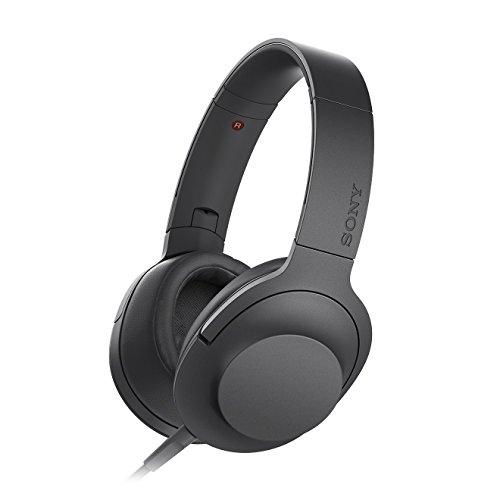 Sony MDR-100AAP Over-Ear, Hi-Res Audio, Driver HD da 40 mm, Design Pieghevole, Microfono in Linea, Nero