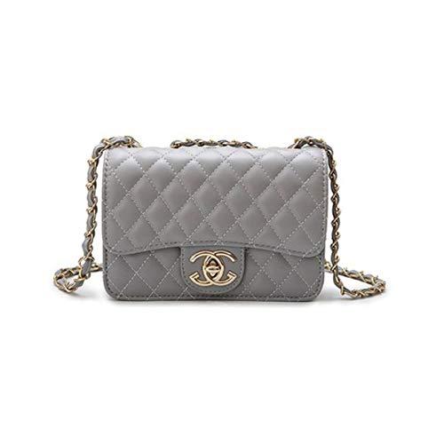XNRHH Handbag 2018 neue Welle Paket Kuriertasche Damen weiblichen Beutel Handtaschen für Frauen Handtasche-Silver(21 * 16 * 7cm) (Handtasche Chanel)