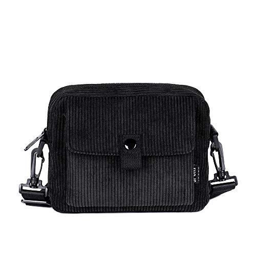Bfmyxgs Fashion Bag für Frauen Mädchen Canvas Umhängetasche Fashion Trend vielseitige Messenger Tasche Rucksack Schultertasche Handtasche Totes Münze Tasche Taille Beutelpackung Brust -