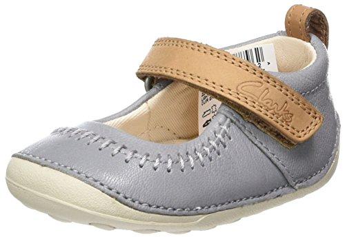 Clarks Little Atlas, Chaussures Quatre Pattes (1-10 Mois) Bébé Fille Gris (Light Grey)