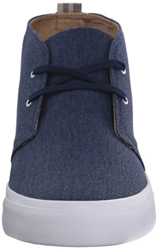 Fred Perry Vernon Mid Waxed Canvas Carbon Blue Blau