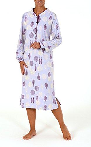 Edles Damen Nachthemd in Kuschelinterlock-Qualität - auch in Übergrössen - 210 96 105 Flieder