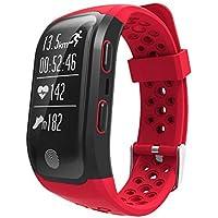 Ghding Pulsera Inteligente Mujer con pulsometro,Relojes Fitness Pulsera Inteligente Bluetooth Deportiva Smartband,para Podómetro,Smart Phones iPhone y Android o Incluye Superior